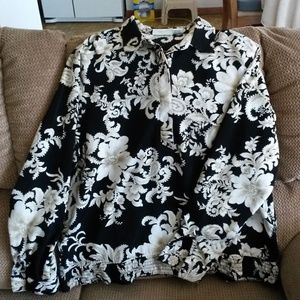 Alfred Dunner Sz. 16 Women's Top Floral Blouse